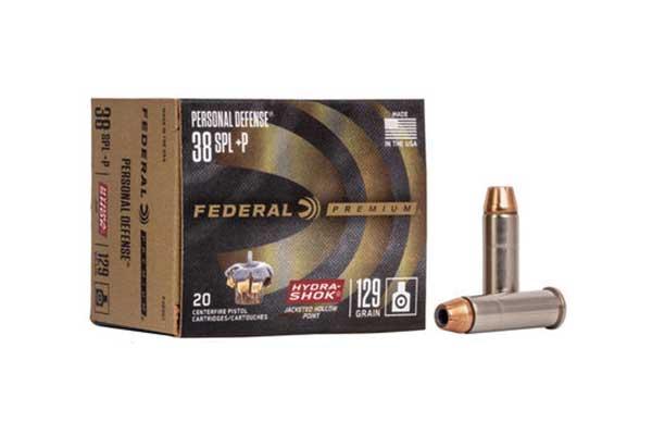 Federal Premium 38 Special (+P) 129 Grain Hydra-Shok JHP 20 rounds