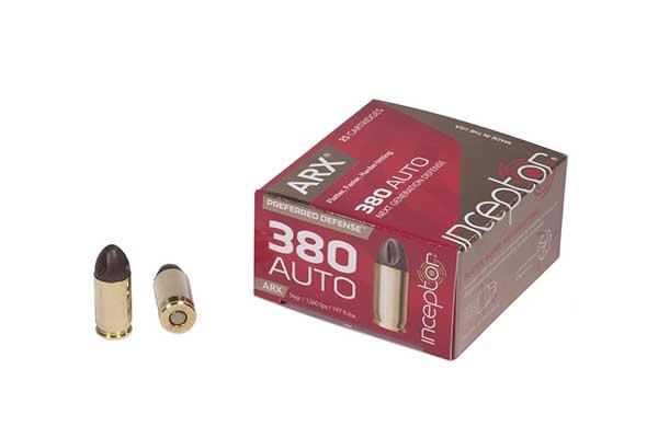 Inceptor by Polycase ARX .380 Auto 56 grain ARX 25 rounds
